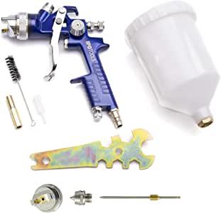 IPOTOOLS Pistola Pintura HVLP H-827P - Sistema Profesional de Pintura con Vaso de plástico de 600 ml y Boquilla de Acero Inoxidable 1,3mm + Juego de Boquilla de 1,7 mm