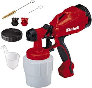 Einhell TC-SY 400 P 0.8L - Pulverizadores de pintura (Pintura, 0,8 L, 0,5 l/min, Negro, Rojo, 275 mm, 128 mm)