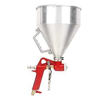 Pistola de pulverización de aire, 6L 1/4 pulg. 4/6/8 mm Pistola de pulverización de aire Pintura de pared Pulverizador Tolva de aluminio Herramienta de decoración del hogar