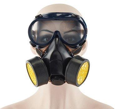 Babimax Respirador Anti-niebla y Anti-vehículo Máscara de Polvo con Gafas Mascarilla para Pintar y Químicas